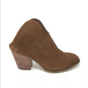 Chinese Laundry Sz 6.5 Kelso Split Suede Bootie